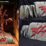 Custom themed base foam sculpture for 300 movie prop