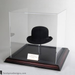 Laurel and Hardy movie prop hat display