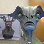 hand sculpted alien busts statues