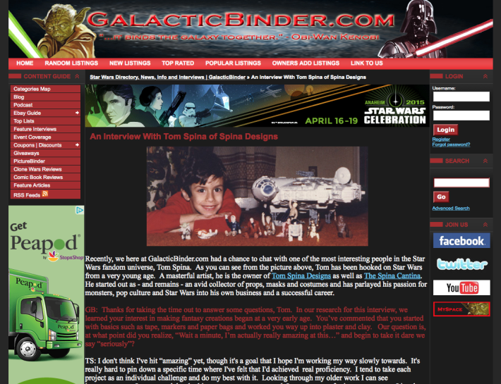 Interview with Galactic Binder.com