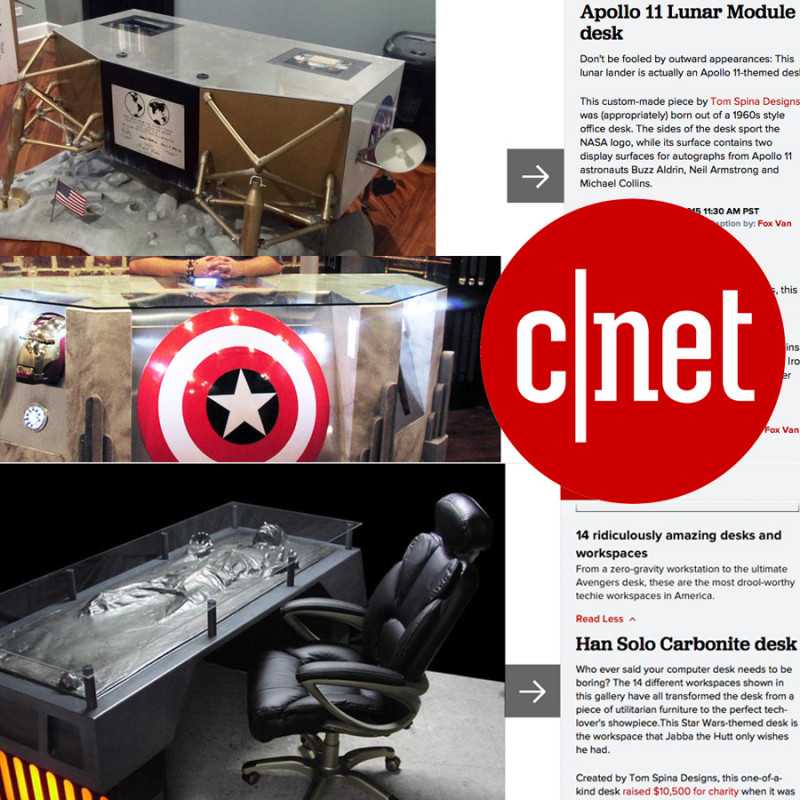 CNET custom desk themed furniture