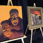 Wolfman painting at Monsterpalooza trade show