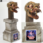 Monster Squad Dracula bat movie prop under skull