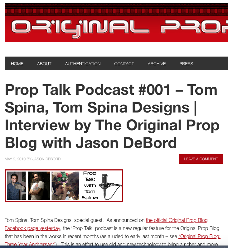 podcast with Tom Spina