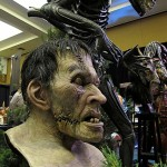 Mageefx custom latex bust at Monsterpalooza trade show