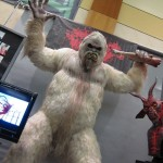 Abominable snowman sculpted statue
