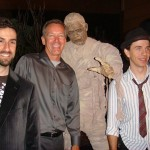 Lon Chaney mummy statues at convention