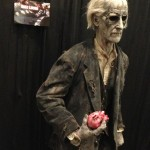 Peter Cushing zombie sculpted statue