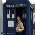 Tom Spina and Doctor Who tardis