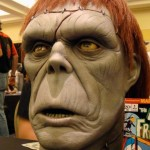 Latex bust by sculptor at Monsterpalooza trade show
