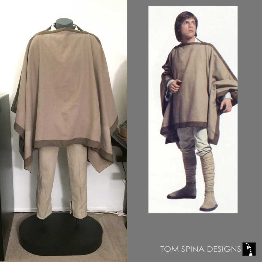 Luke Skywalker Costume Custom Museum Mannequin Tom Spina Designs