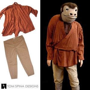 Snaggletooth Star Wars costume mannequin