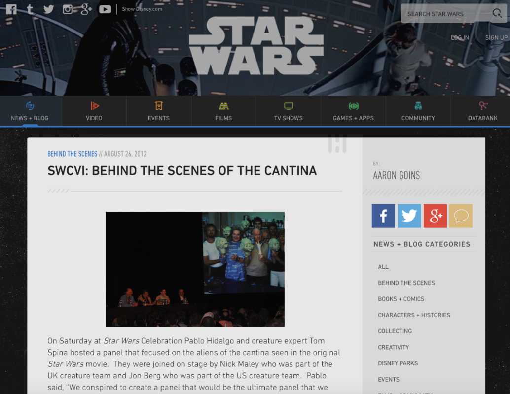 Cantinarcheaology Secrets of the Star Wars Cantina