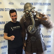 tom with Terl custom costume at Park City TV