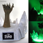 vintage latex The Thing From Another World prop hand
