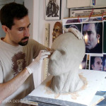Christopher Lee custom tribute bust