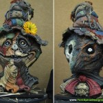 Wiz Scarecrow hand sculpted bust statue