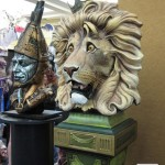 Wiz cowardly Lion Tinman sculpted busts