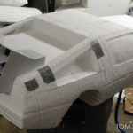 foam carved styrofoam Delorean time machine prop