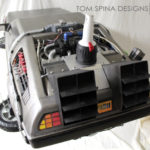 Back to the Future foam carved styrofoam Delorean time machine prop