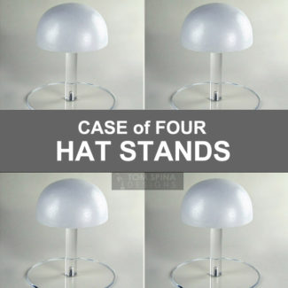foam head topper hat stands in case of four