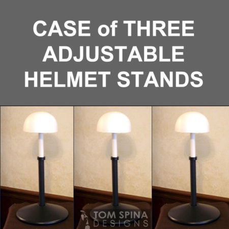 adjustable display stands - change height for helmet, wig or hat displays