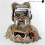 Ewok Statue for The Biker Scout Helmet Charity Project