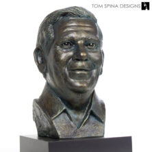 custom sculpted memorial bust