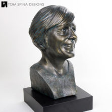 life-sized female bust from photos