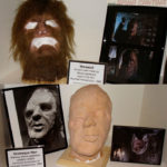 Haunted Honeymoon's Werewolf mask and Horrible Man props from Stuart Freeborn
