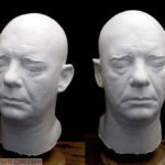 Lon Chaney Jr. super-rare full head lifecast, heavy plaster cast