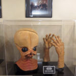 Star Wars cantina band mask and hands from the cantina scene in A New Hope