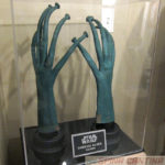 screen used Martian aka Greedo or Rodian alien hands from Star Wars