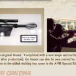 Walrusman's blaster movie prop, from the Star Wars cantina