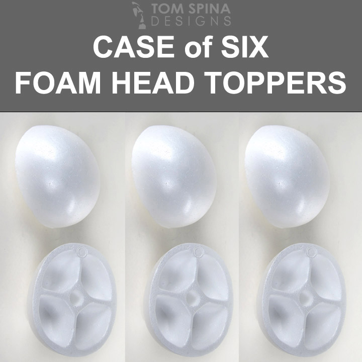 styrofoam wig form domes - foam head toppers
