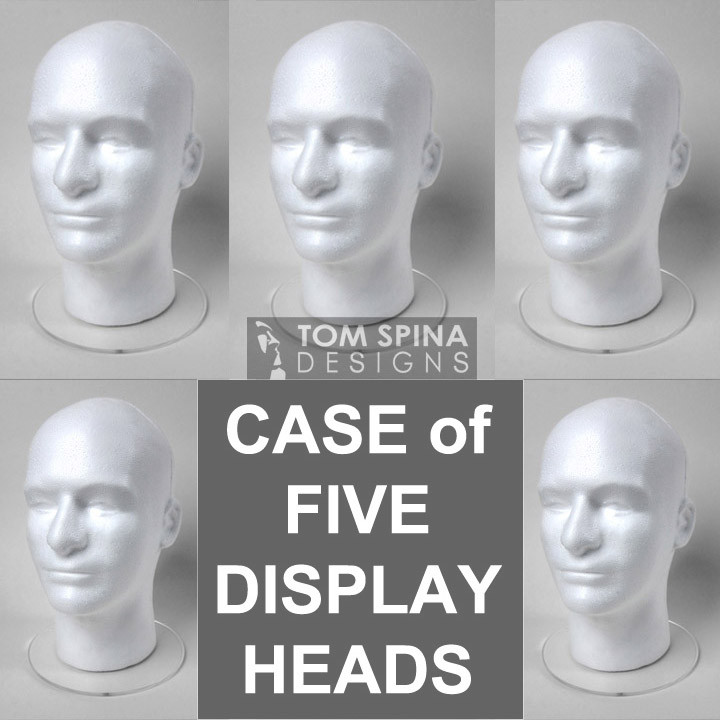 Display Heads with Acrylic Bases