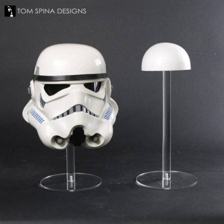 helmet display stand in acrylic and foam