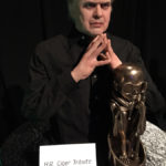 wax museum H.R. Giger statue at monsterpalooza trade show