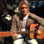 realistic Kurt Cobain statue at monsterpalooza trade show