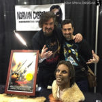 Howling werewolf busts at monsterpalooza trade show
