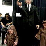 Phantasm statues at monsterpalooza trade show