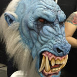 latex frost ape sculpt at monsterpalooza trade show