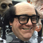 latex devito bust at monsterpalooza trade show