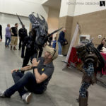 alien cosplay at monsterpalooza trade show