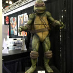 Teenage Mutant Ninja Turtle movie prop at Monsterpalooza trade show