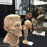 sculpting at at monsterpalooza trade show