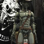 robot statue at monsterpalooza trade show