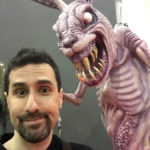 Twilight Zone rabbit at monsterpalooza trade show