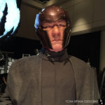 Life sized Magneto statue at monsterpalooza trade show