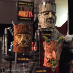 tiki wall art at monsterpalooza trade show